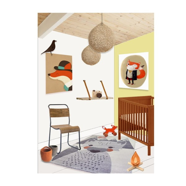 Dětský koberec Nattiot Mr. Fox, 100x150cm