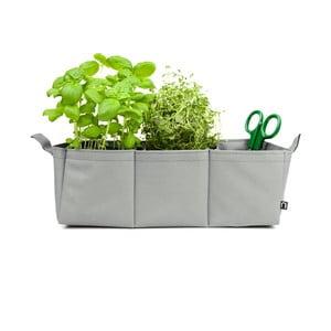 Polyesterový květináč Novoform Herbie, šedý