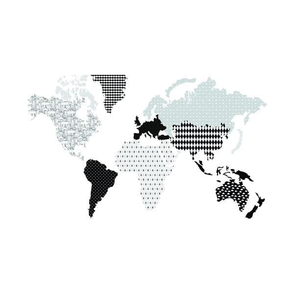Naklejka ścienna Dekornik Map Dark, 180x107 cm