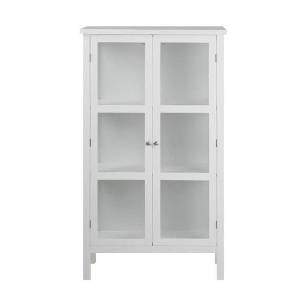 Bílá dvoudveřová vitrína Actona Eton, výška 136,5 cm