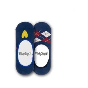 Sada 2 párů nízkých ponožek Funky Steps Lucky, velikost 35 – 39
