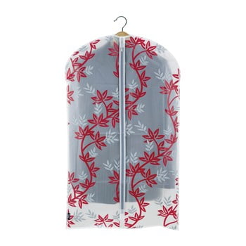 Husă protecție haine Domopak Living, lungime 100 cm, alb-roșu de la Domopak