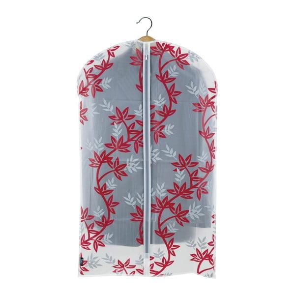 Czerwono-biały pokrowiec na garnitur Domopak Living, dł. 100 cm