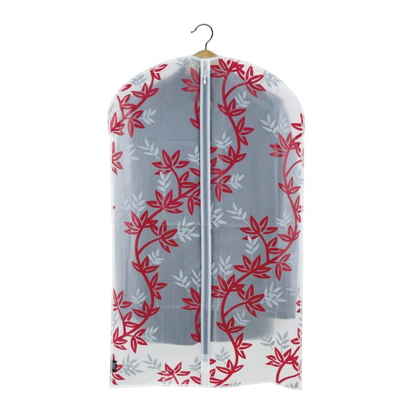 Husă protecție haine Domopak Living, lungime 100 cm, alb-roșu