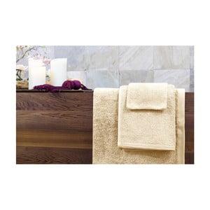 Set dvou béžových ručníků a osušky Jalouse Maison Naturel