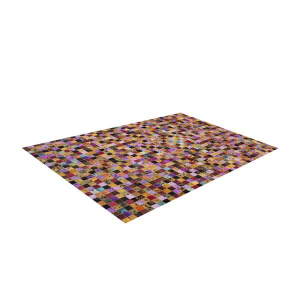 Koberec z pravé kůže Sao Paulo Multi, 70x140 cm