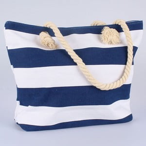 Textilní modrobílá taška Dakls