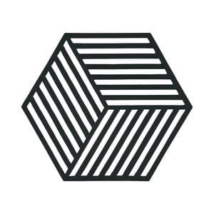 Suport pentru vase fierbinți Hexagon, negru