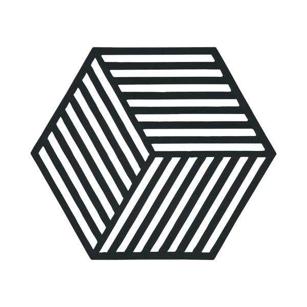 Podložka pod horké Hexagon, černá