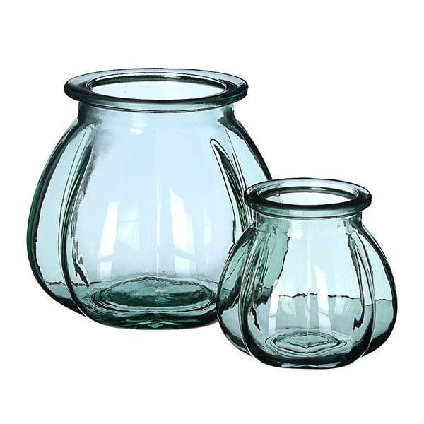 Skleněná váza Green, 18x16 cm