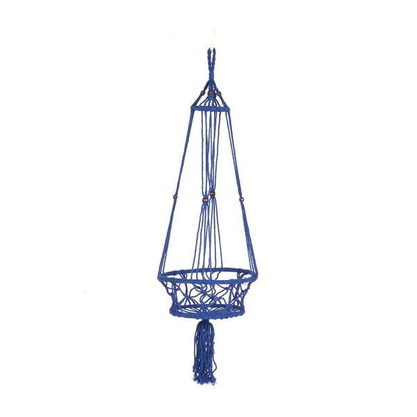 Závěsný držák na květináč Macrame Azul, 25 cm