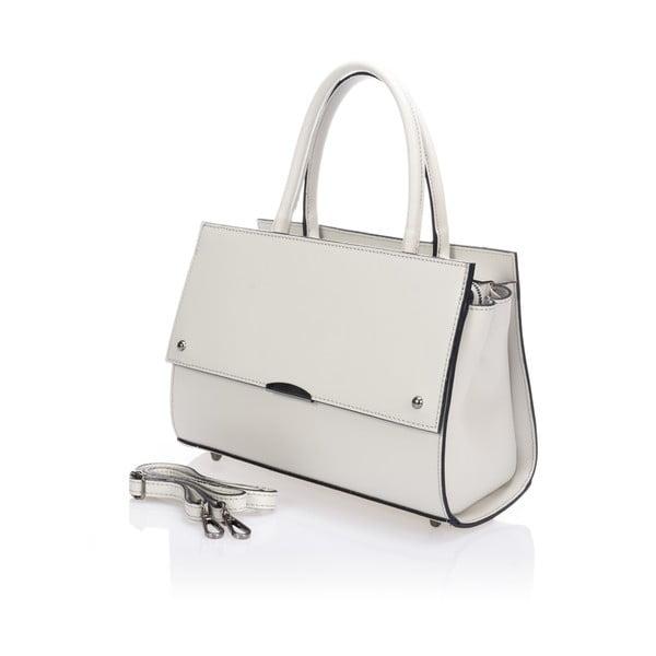 Béžová kožená kabelka Lisa Minardi Advik