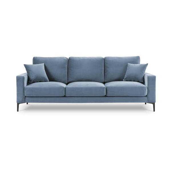 Harmony világoskék bársony kanapé, 220 cm - Kooko Home