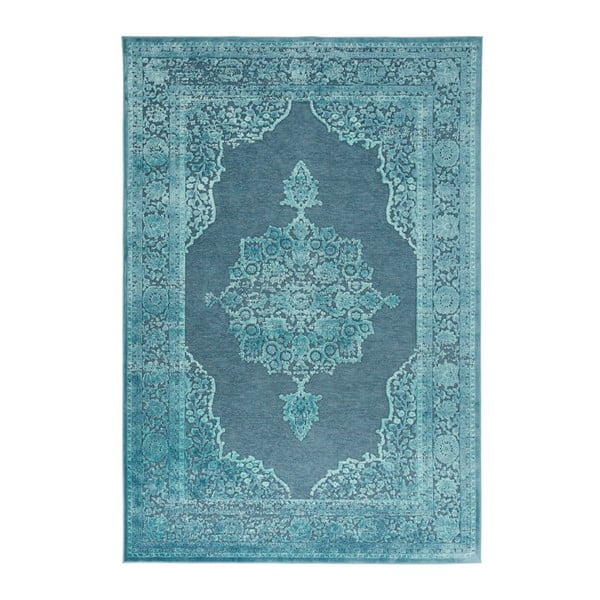Modrý koberec Mint Rugs Shine Hurro, 80 × 125 cm