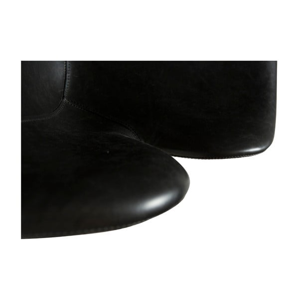 Černé koženkové křeslo DAN-FORM Denmark Gaia