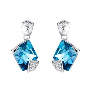 Náušnice s modrými krystaly Swarovski Elements Crystals Sharp