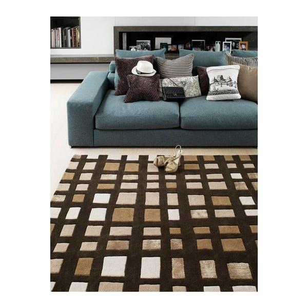 Vlněný koberec Plaza Chocolate 120x170 cm