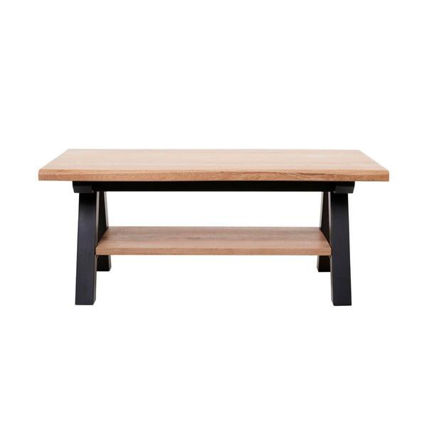 Stolik z drewna białego dębu Unique Furniture Oliveto