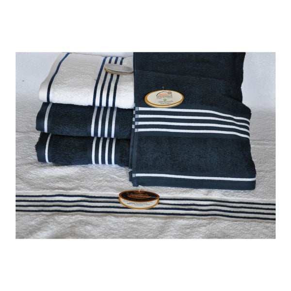 Ručník Rio Positive Navy Blue/White Stripes, 50x100 cm