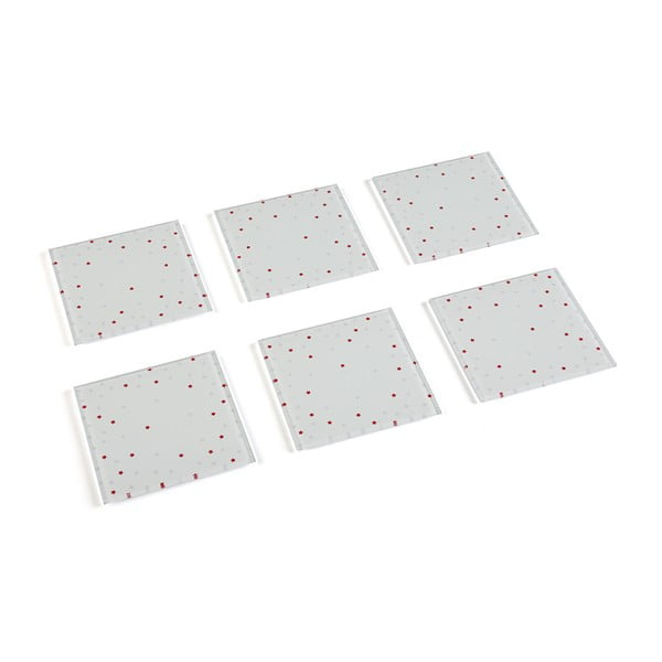 Set stojanu a 6 skleněných podtácků VERSA Cellular