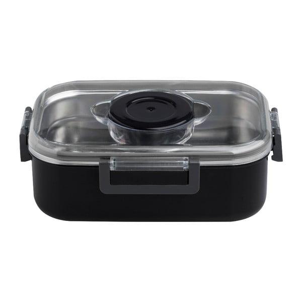 Airtight fekete ételes doboz, 21 x 15 cm - Brandani