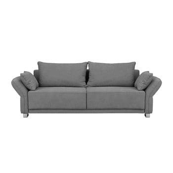 Canapea extensibilă cu 3 locuri și spațiu de depozitare Windsor & Co Sofas Casiopeia, gri deschis de la Windsor & Co Sofas