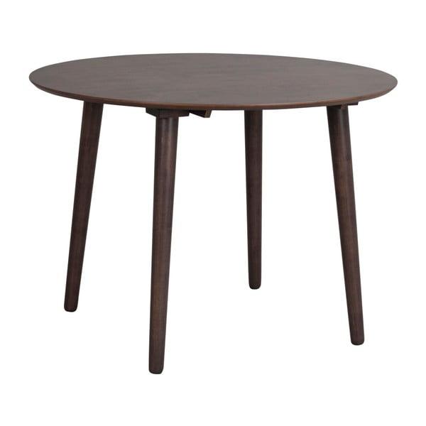 Hnedý jedálenský stôl z dreva kaučukovníka Folke Lotte