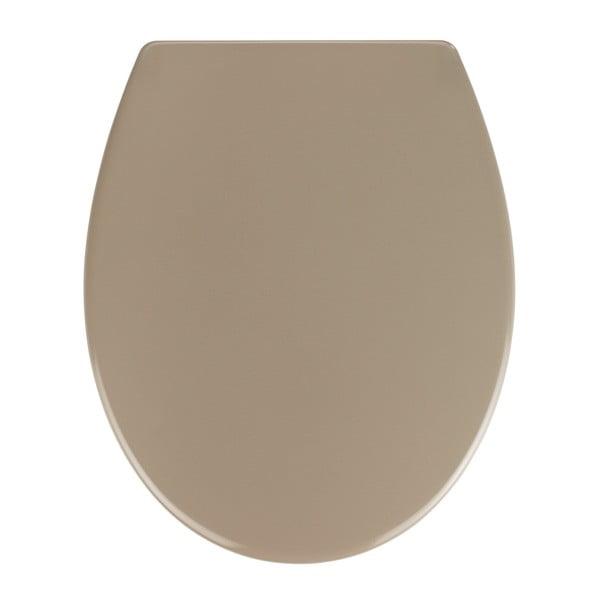 Béžové WC sedátko se snadným zavíráním Wenko Samos, 44,5 x 37,5 cm