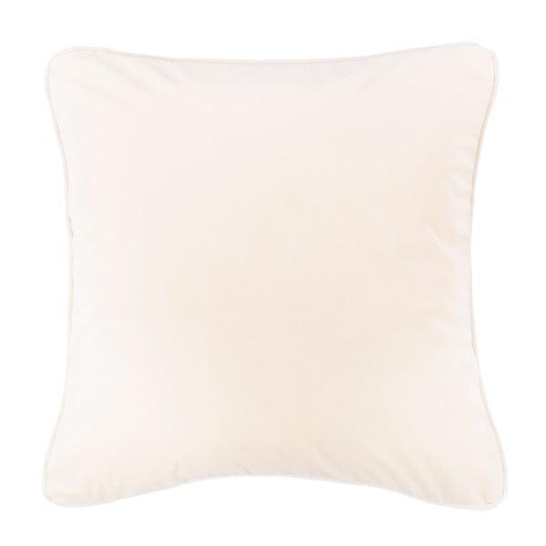 Kremowa poduszka Tiseco Home Studio Velvety, 45x45 cm