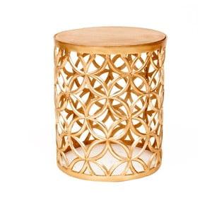 Odkládací stolek ve zlaté barvě Miloo Home Louis, ⌀34cm