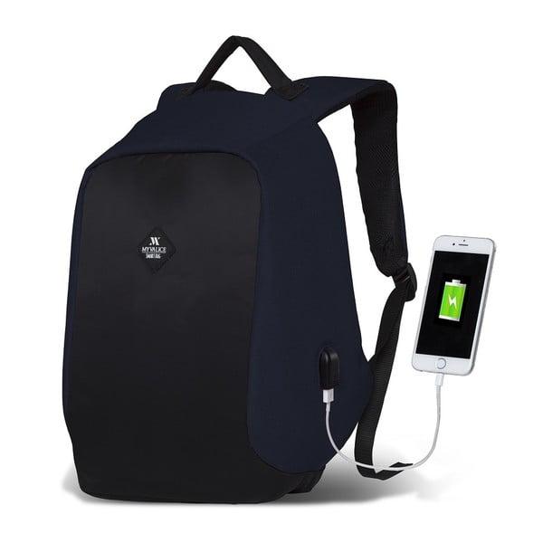Tmavě modro-černý batoh s USB portem My Valice SECRET Smart Bag