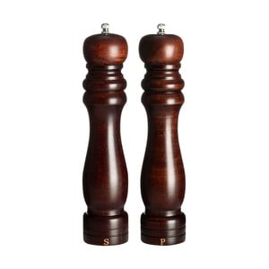 Set 2 râșnițe din lemn pentru sare și piper Premier Housewares Lori