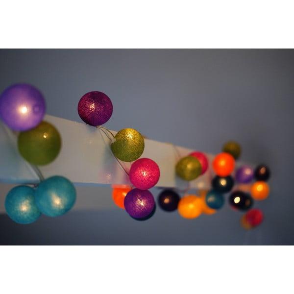 Světelný řetěz Marshmallow, 20 ks světýlek