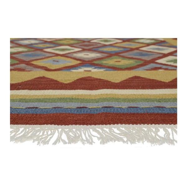 Ručně tkaný koberec Bakero Kilim Classic K14 Red, 125x185cm