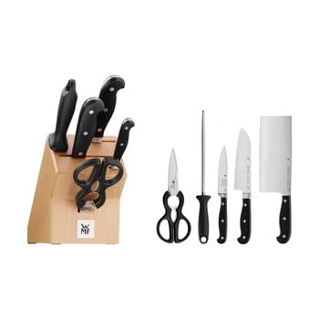 Bloc cuțite pentru bucătărie cu ustensile WMF Spitzenklasse imagine