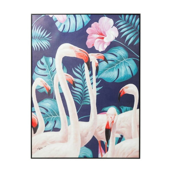Obraz Kare Design Touched Flamingo, 122 x 92 cm