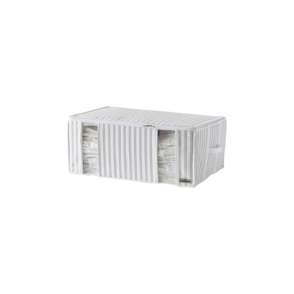 Bílo-šedý vakuový box Compactor Stripes, šířka 50 cm