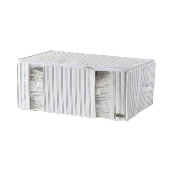 Bílo-šedý vakuový box Compactor Stripes, šířka 50cm