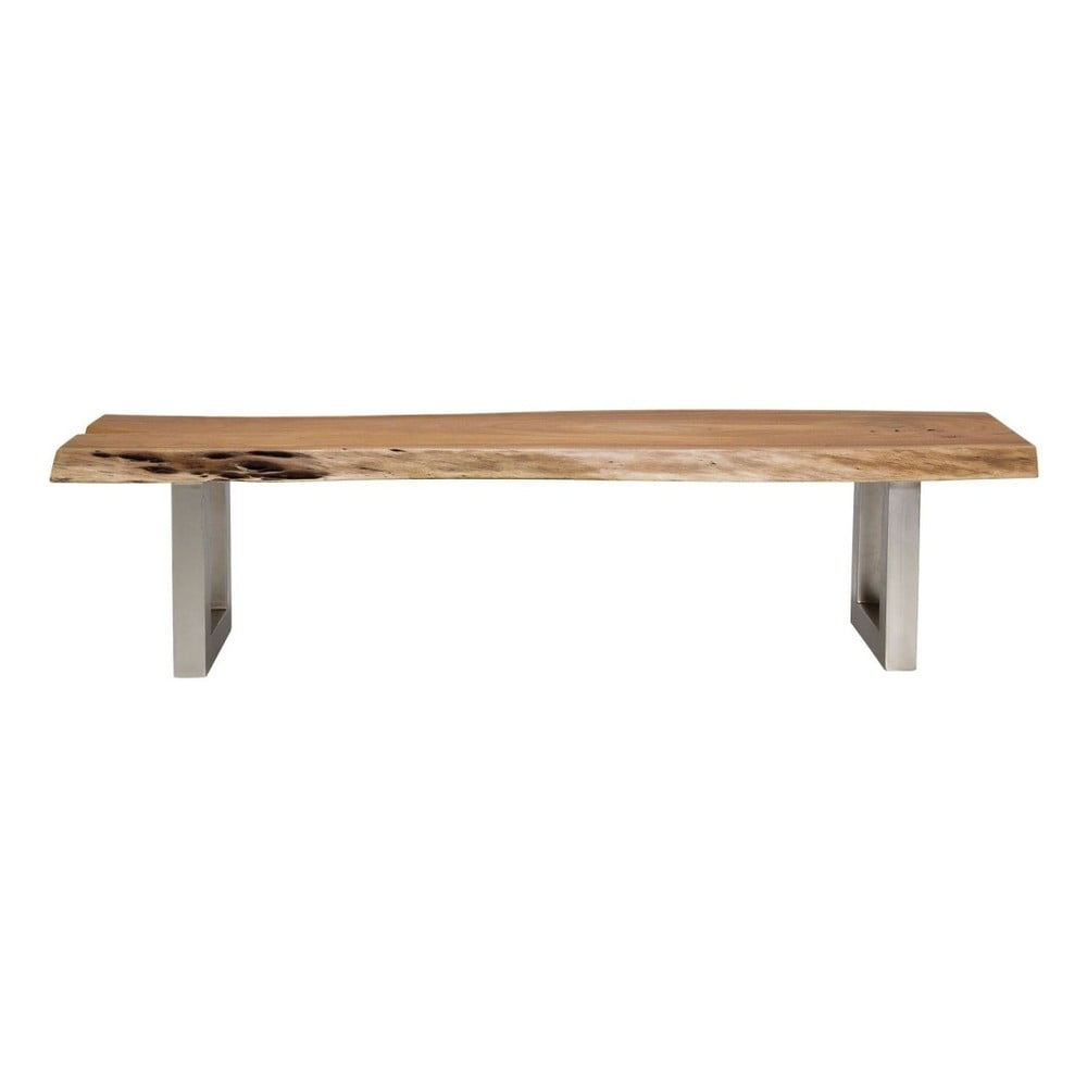 Lavice s deskou z akáciového dřeva Kare Design Nature Line, 180x45cm