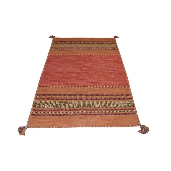 Pomarańczowy bawełniany dywan Webtappeti Antique Kilim, 160x230 cm