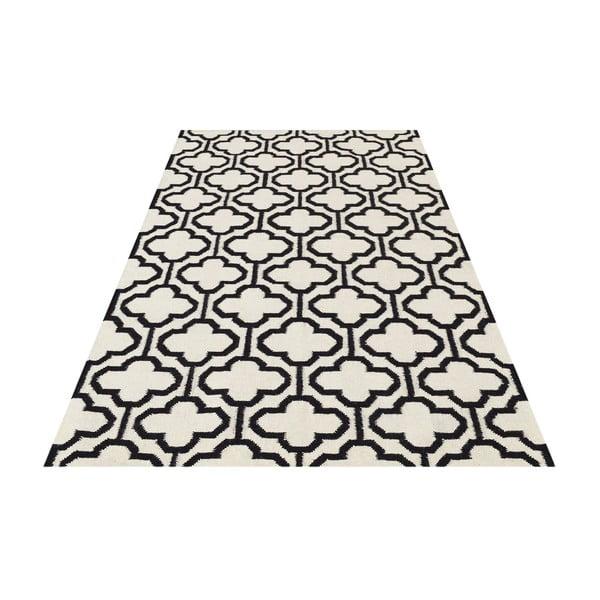 Vlněný koberec Penelope Ivory Black, 140x200 cm