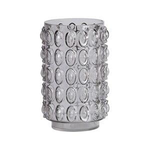 Šedá skleněná váza BePureHome Bumps