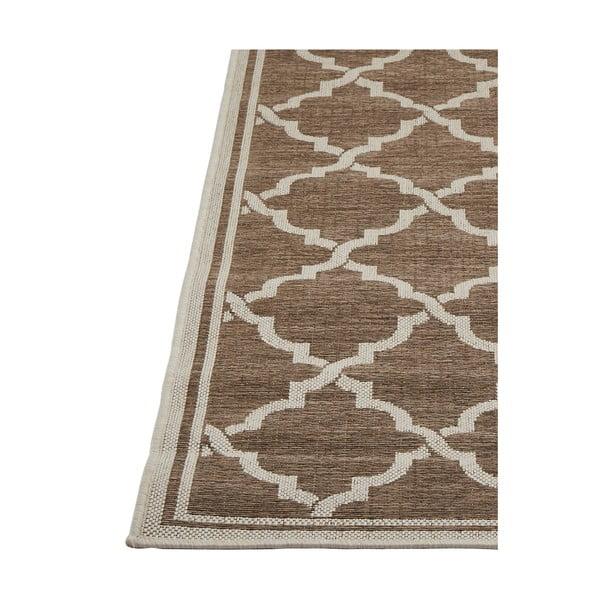 Hnědý vysoce odolný koberec vhodný do exteriéru Webtappeti Intreccio Natural, 200x290cm