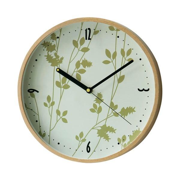 Nástěnné hodiny Leaf, 31 cm
