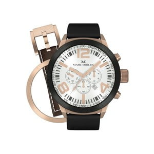 Pánské hodinky Marc Coblen s páskem a kroužkem navíc P40