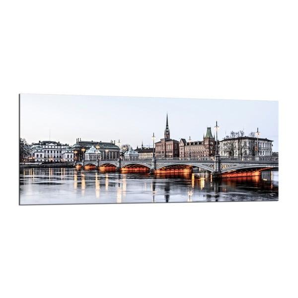 Obraz Styler Glasspik City Stockholm, 50 x 125 cm