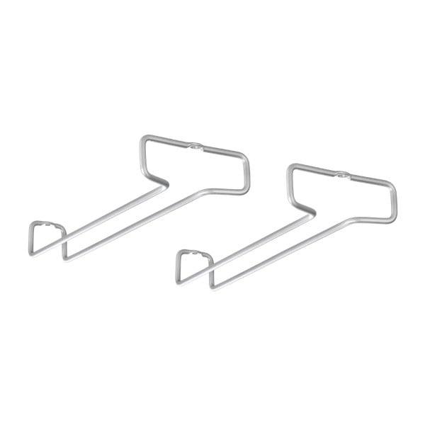 Set 2 suporturi pentru agățat pahare Metaltex Glass
