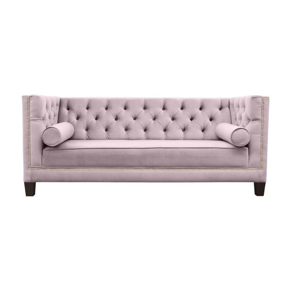 Różowa sofa 2-osobowa JohnsonStyle Geneive French Velvet
