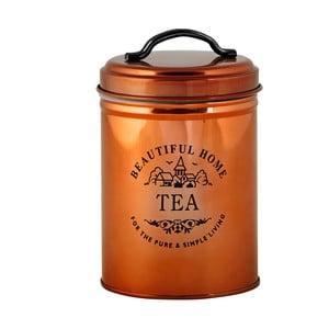 Recipient metalic pentru ceai Galzone, arămiu