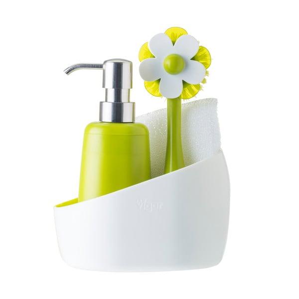 Set na mytí nádobí s dávkovačem jaru Green Flower